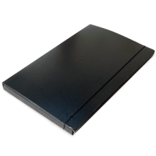 Caja de archivo fibra negra 2,5 cms
