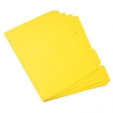 Separador de cartulina amarilla Oficio
