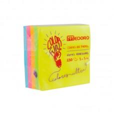 Notas adhesivas Medoro 50x50 cubo fluo