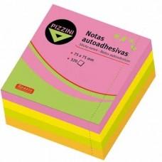 Notas adhesivas Pizzini 75x75 cubo fluo