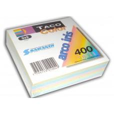 Taco de papel color 9x9